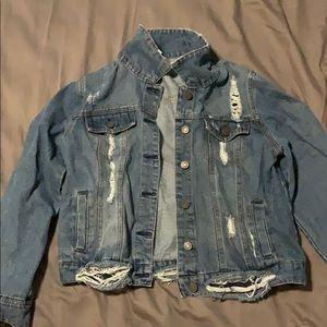 Dark blue jean jacket